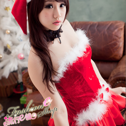 露肩澎澎洋裝聖誕服~聖誕節跨年尾牙角色扮演制服派對xmas聖誕...