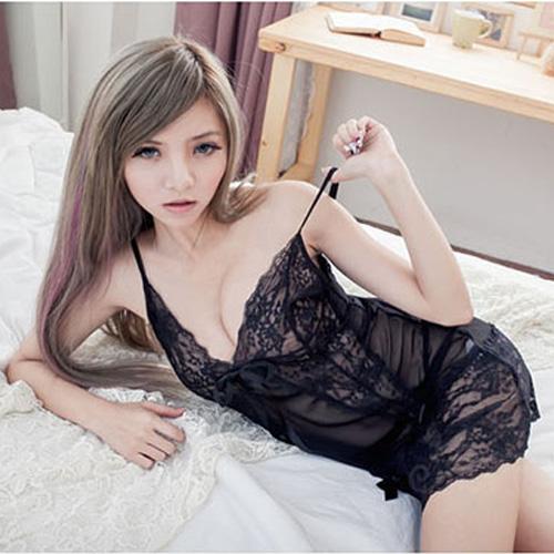 熱戀情趣睡衣,黑色紫色連身睡衣含情趣丁字褲~A492...