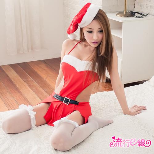 聖誕節火辣聖誕服 裸背情趣內衣式聖誕裝跨年派對服*F023...