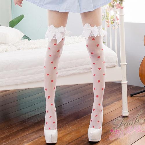 夢幻日系白色愛心性感絲襪~透膚性感絲襪美腿單品~流行E線B8006...
