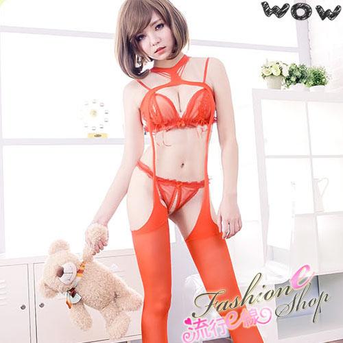 SM連身貓裝,裸空性感一體成型連身衣情趣吊帶襪*流行E線B378...