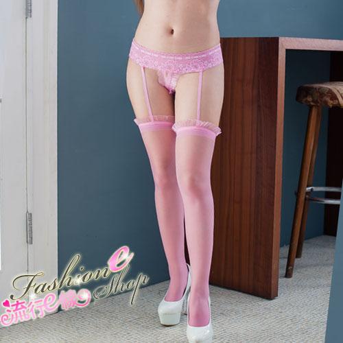 一體成型連內褲性感吊帶襪大腿襪~流行E線B8017...