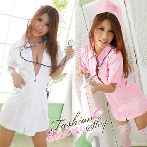 美麗女護士~經典護士服~派對角色扮演短袖洋裝護士裝含丁字褲A...