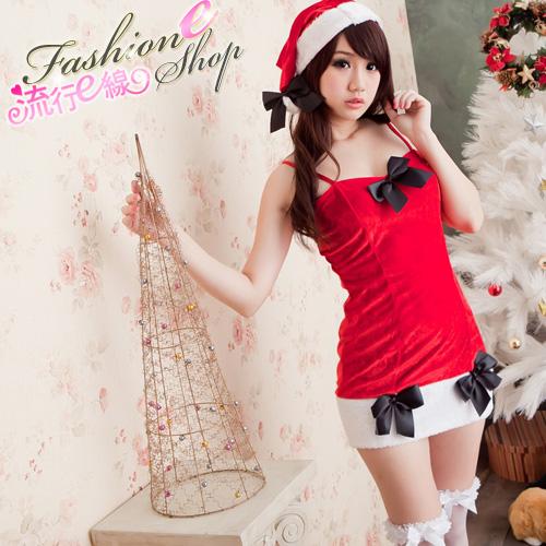 洋裝式聖誕裝xmas派對聖誕服*F015...