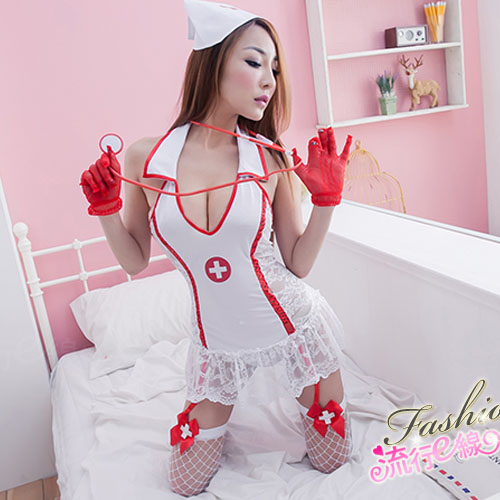 角色扮演半透性感護士服COSPLAY服裝 送性感大腿網襪~A669...