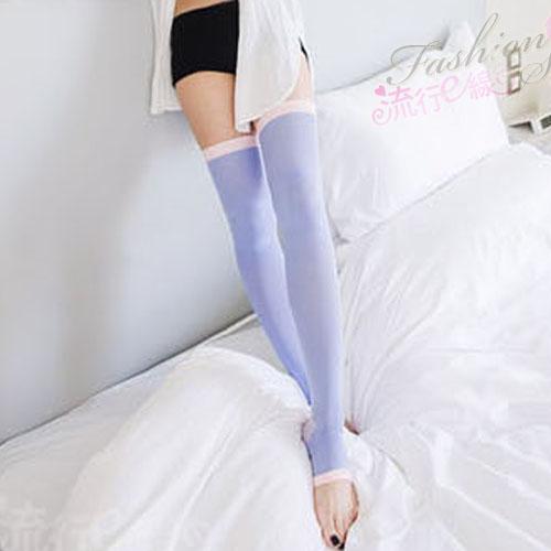 180丹輕舒夜寢襪 中厚大腿襪黑色紫色夜寢襪 ~流行E線B398