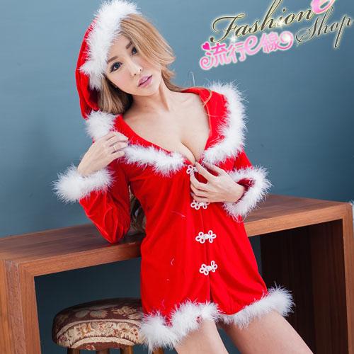 聖誕服 角色扮演紅色長袖聖誕服 A7039...