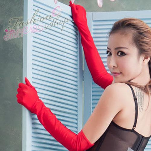 【B022】素面長手套~若隱若現性感蕾絲手套~角色扮演制服派對...
