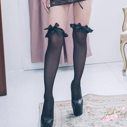 荷葉邊蝴蝶結性感絲襪~流行E線B8020
