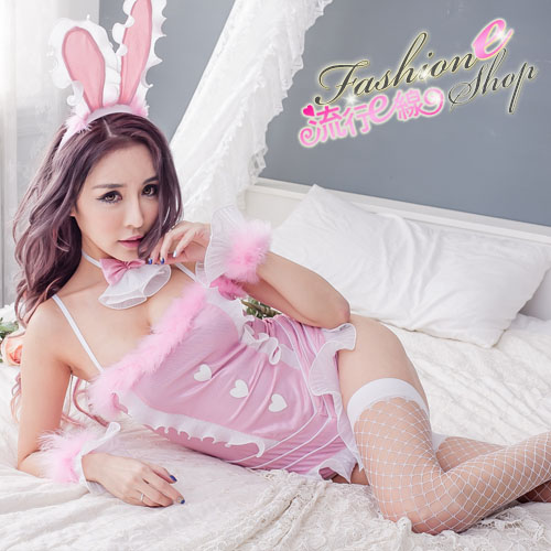 cosplay服裝兔女制服 粉紅色連身式兔女郎裝~流行E線A7113...