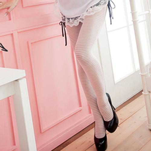 白色褲襪全開檔情趣褲襪MIT襪子~流行E線B8003