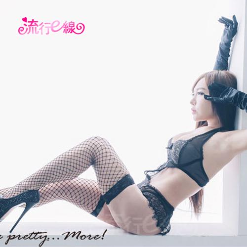 大罩杯連身衣開襠性感情趣內衣含蕾絲網襪~A7087...