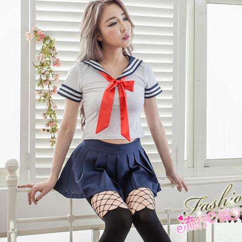 S~XL甜美萌系水手服cosplay服裝學生服A7155...