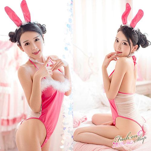 兔女郎 透明薄紗兔女郎角色扮演制服A7180...