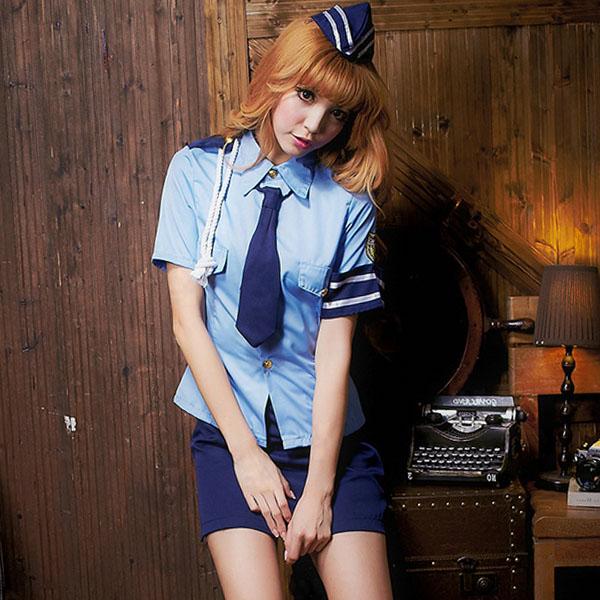 S~XL號性感女警制服 角色扮演軍警制服A7178