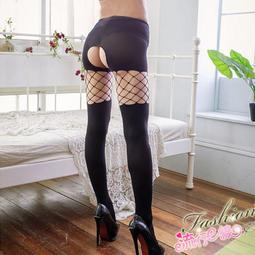 假兩件黑色開襠絲襪網襪 不透膚遮瑕厚絲襪~B8080