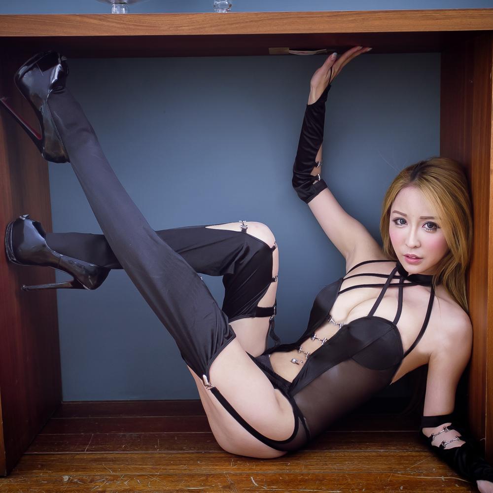 情趣睡衣 惹火SM黑色緊身情趣睡衣-A7055...