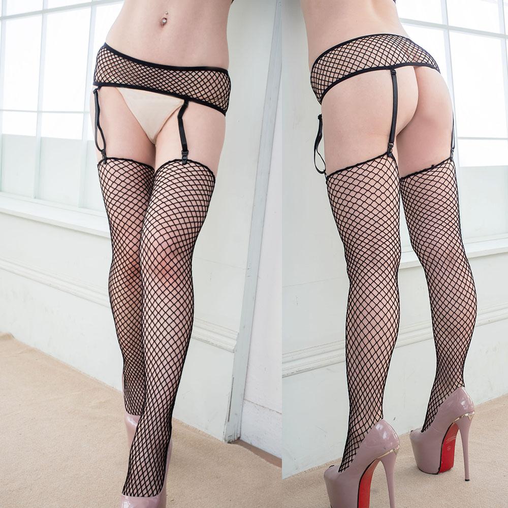 歐式吊襪帶 性感網眼吊襪帶網襪兩件式 S037...