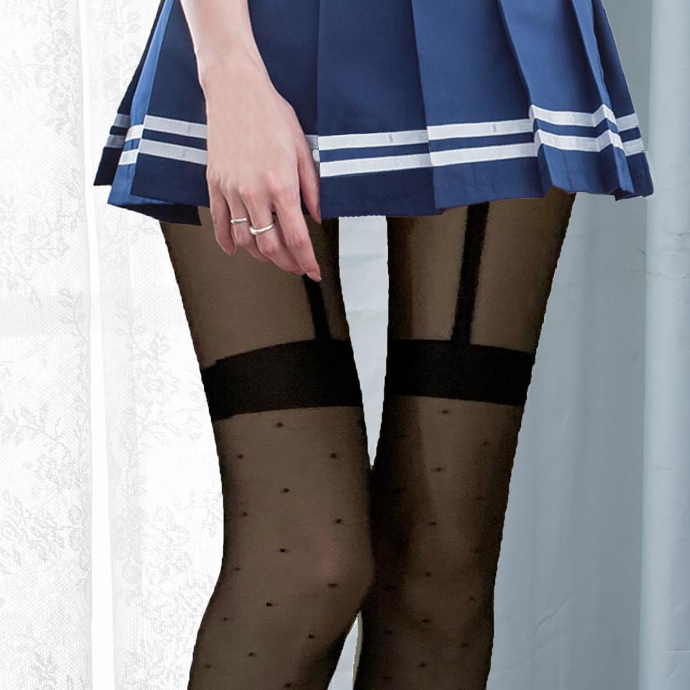 日系點點褲襪透膚黑絲襪 台灣製性感褲襪 B8125...