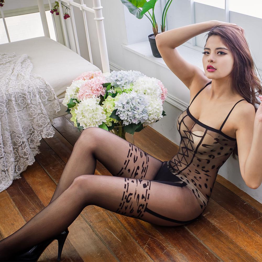 貓裝 性感台灣製貓裝連身情趣內衣 透明性感連身襪 B8095...