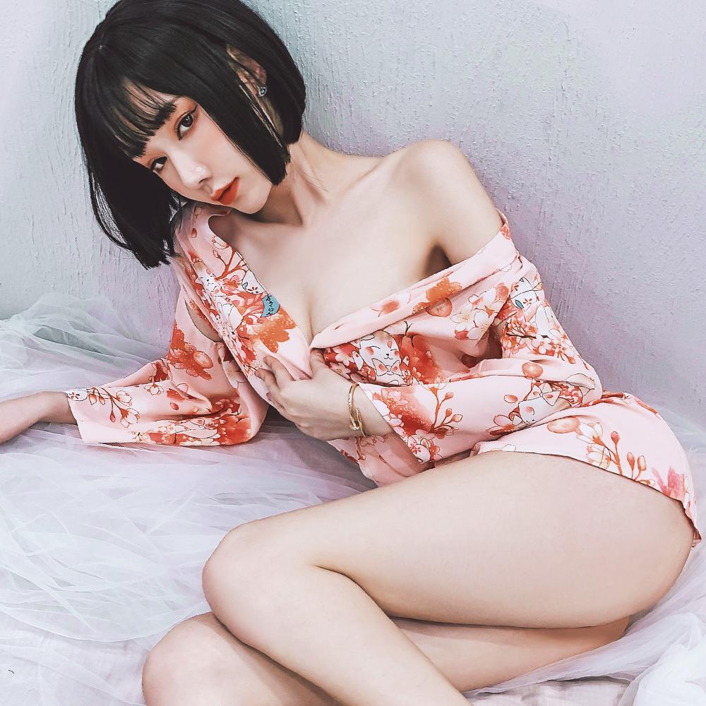 和服 粉色短性感和服 角色扮演cosplay日系和服 A7249