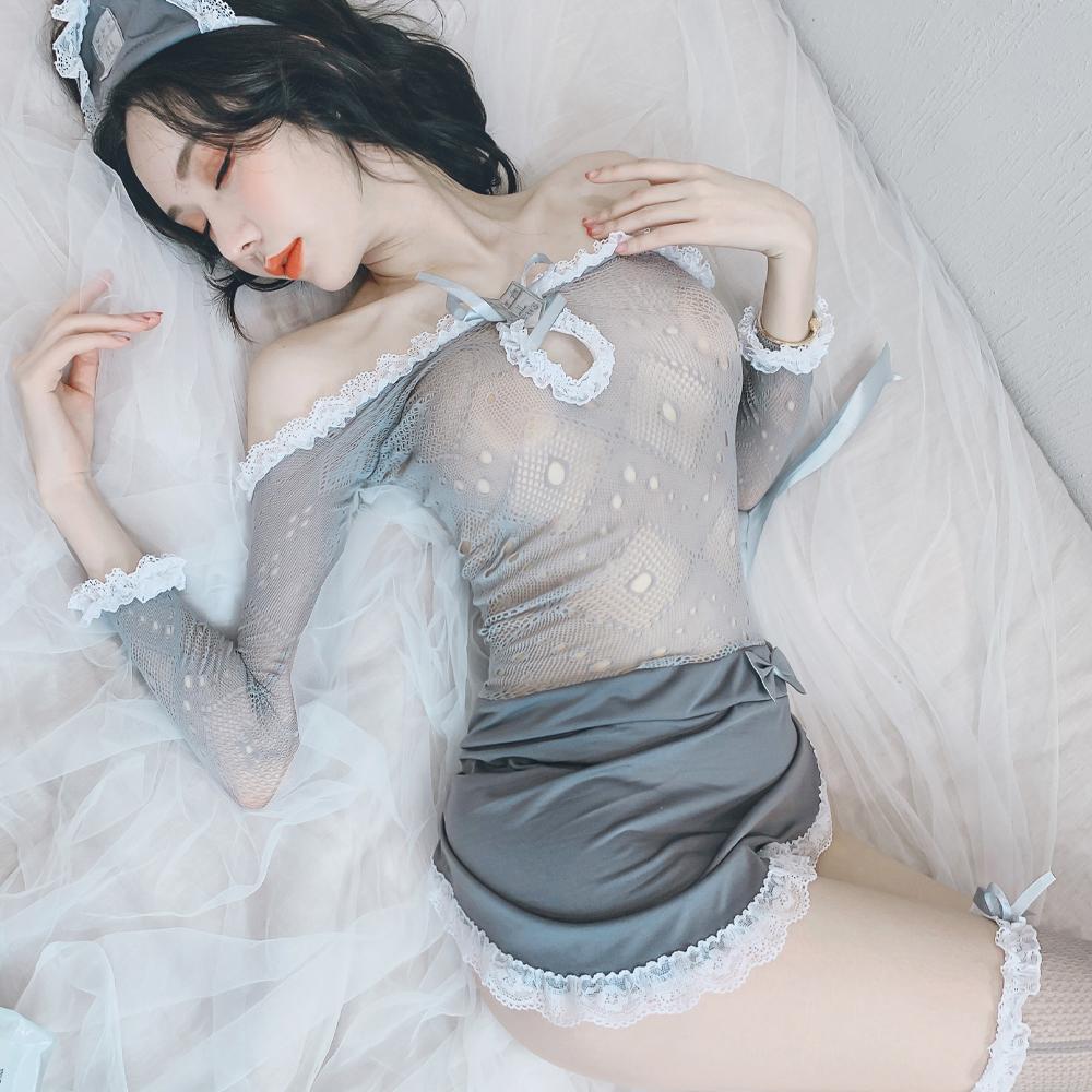性感女僕裝 暗黑系透明網衣女傭制服~A7269...