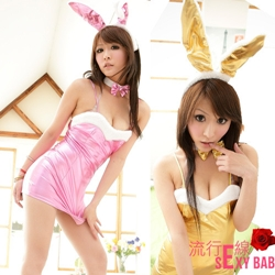 派對焦點 火辣兔女郎-角色扮演尾嗆辣亮光漆皮兔女郎【A361】