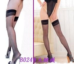 【B024】美腿透氣背線大腿襪~黑色.膚色~夏日美腿角色扮演OL制...