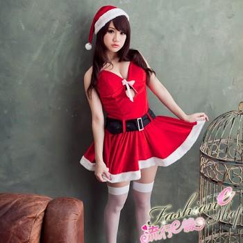日系可愛女孩甜心聖誕裝含聖誕帽*F037...